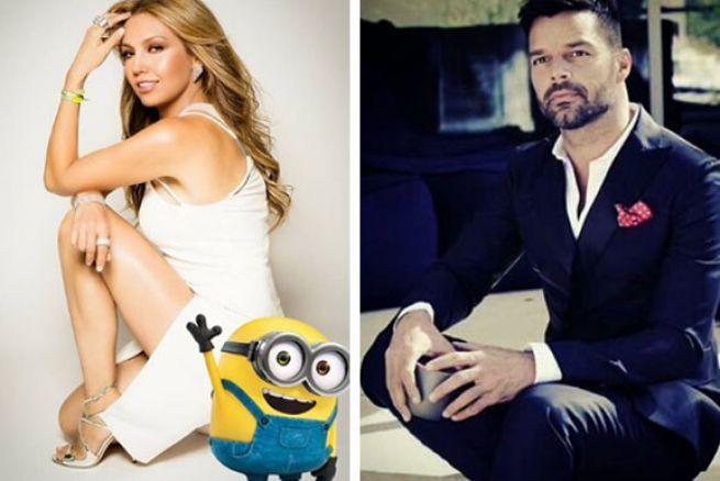 Thalía y Ricky Martin prestan su voz para la película de los Minions